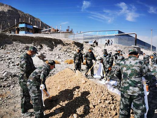 公司民兵参加海勃湾区2020年防汛应急演练